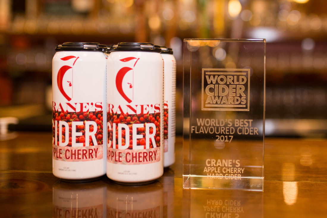 Crane's Winery wins World's Best Flavoured Cider 2017
